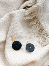 Load image into Gallery viewer, black discs — dangle earrings