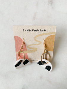 handpainted 3 — dangle earrings