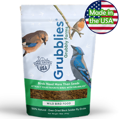 Grubblies Black Soldier Fly Snacks for Wild Birds 1lb