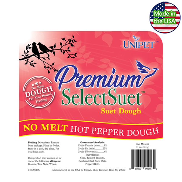 Premium Select Suet - No Melt Hot Pepper Suet Dough