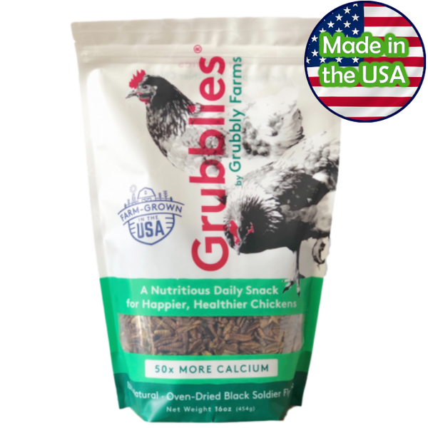 Grubblies Black Soldier Fly Snacks for Chickens 1lb