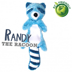 BecoPets Stuffing Free Racoon Toy