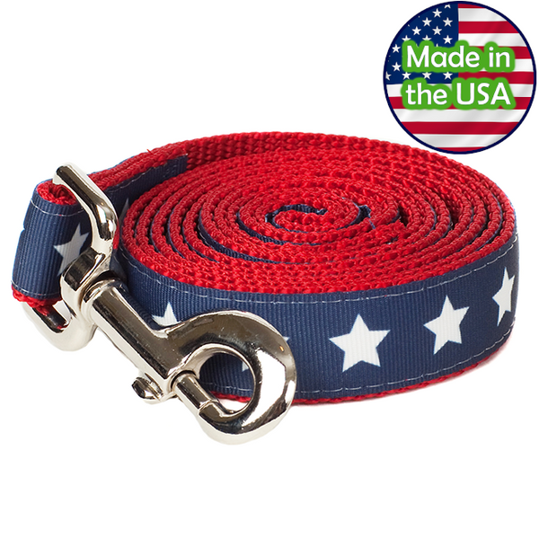 Paw Paws Dog Leash - 5' Americana Park Stars