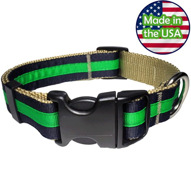 Paw Paws Dog Collar - Prep School Nate Medium
