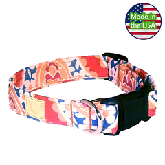 Alpha Pack Unleashed Waterproof Dog Collar - Coral Reef Large