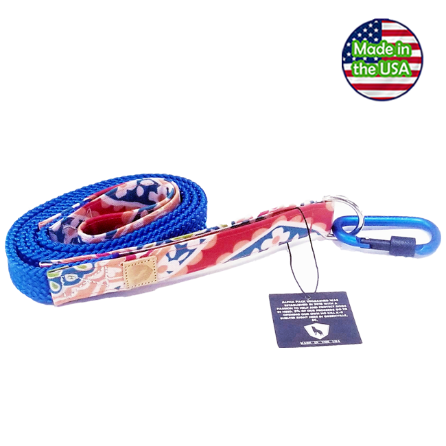 Alpha Pack Unleashed Waterproof 5' Dog Leash - Coral Reef