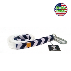 Alpha Pack Unleashed Waterproof 5' Dog Leash - Blue Chevron