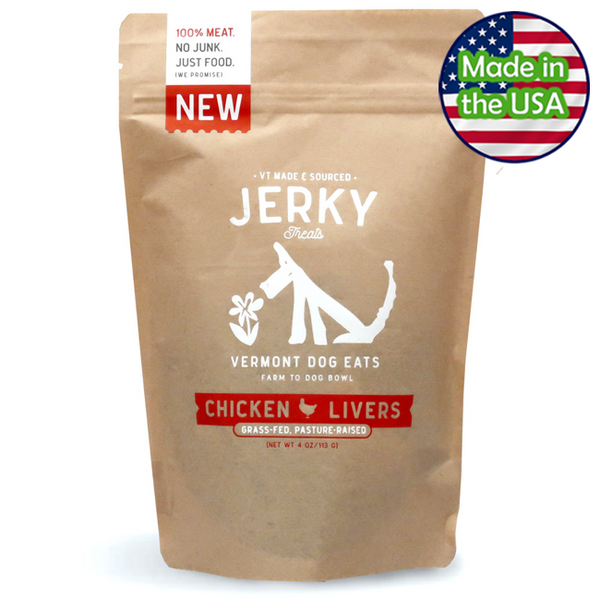 Vermont Dog Eats Chicken Liver Jerky