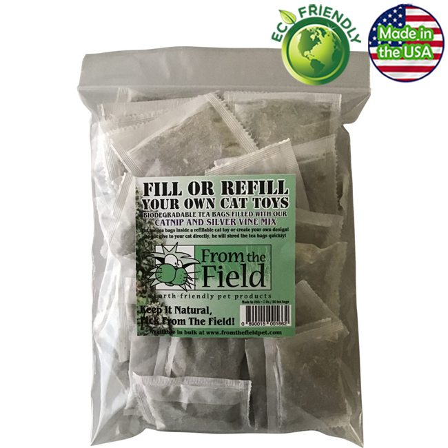 From the Field Refill Your Own Cat Toys Catnip Teabags - 50