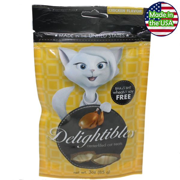 Delightibles Center-Filled Cat Treats Chicken