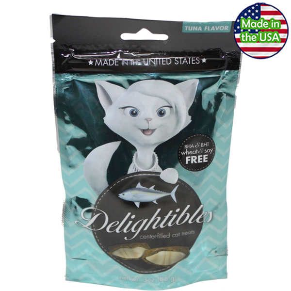 Delightibles Center-Filled Cat Treats Tuna
