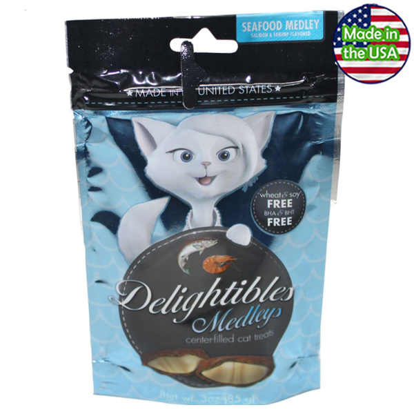 Delightibles Center-Filled Cat Treats Seafood