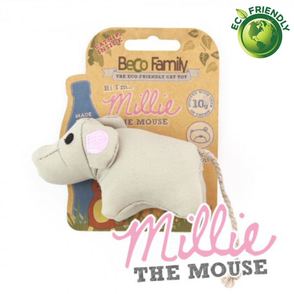 BecoPets Catnip Mouse Toy