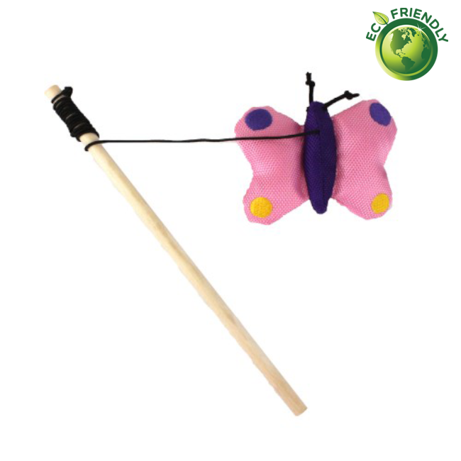 BecoPets Catnip Wand Butterfly Toy