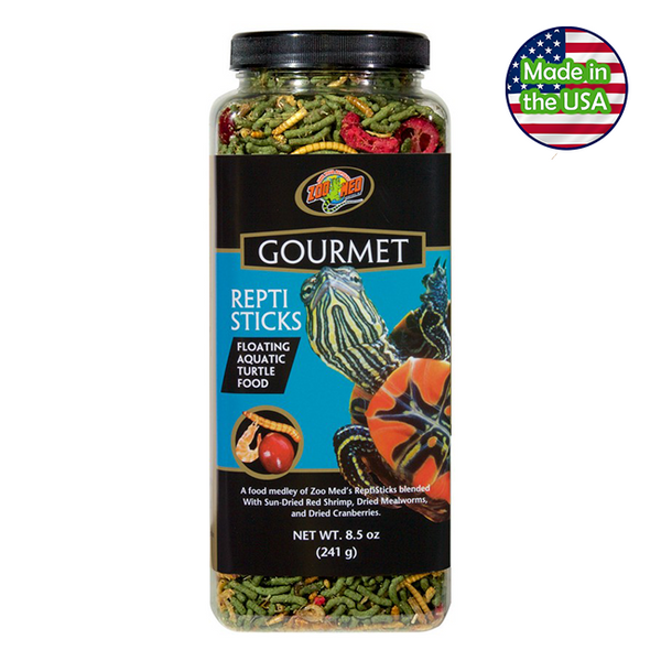 Zoo Med Gourmet Reptisticks Floating Aquatic Turtle Food 8.5 oz