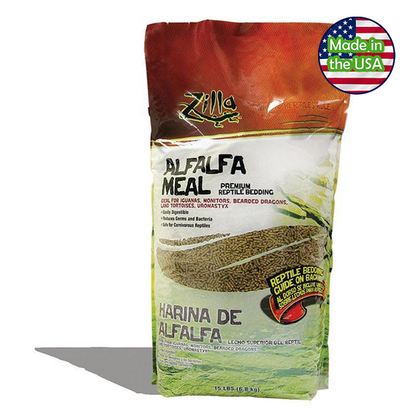 Zilla Alfalfa Meal Reptile Bedding and Litter 15 lbs