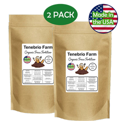 Tenebrio Farm Organic Frass Fertilizer 44 oz 2-Pack
