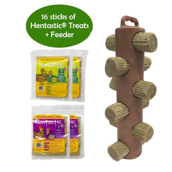 Hentastic® Hanging Chicken Treats Feeder Bundle