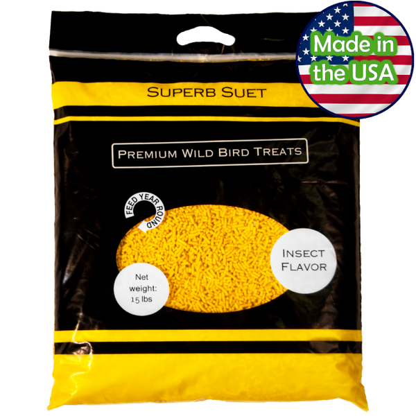 Superb Suet® Insect 15 lbs Resealable Bag
