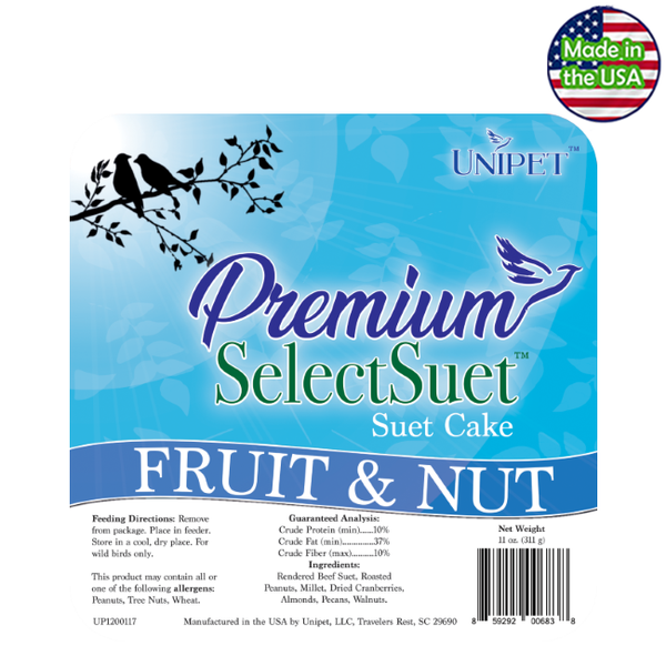 Premium Select Suet - Fruit & Nut Suet Cake