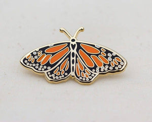 Wildship Studio - Monarch Butterfly Enamel Pin For Charity