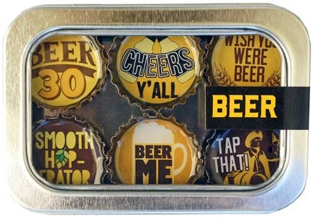 Kate Grenier Designs - Beer Magnet - Six Pack