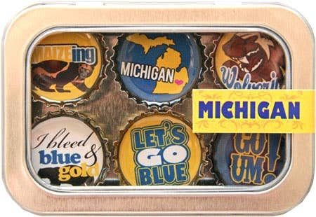 Kate Grenier Designs - University of Michigan Magnet - Six Pack