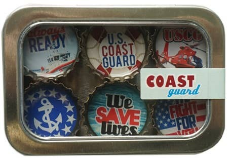 Kate Grenier Designs - Coast Guard Magnet - Six Pack