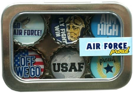 Kate Grenier Designs - Air Force Magnet - Six Pack