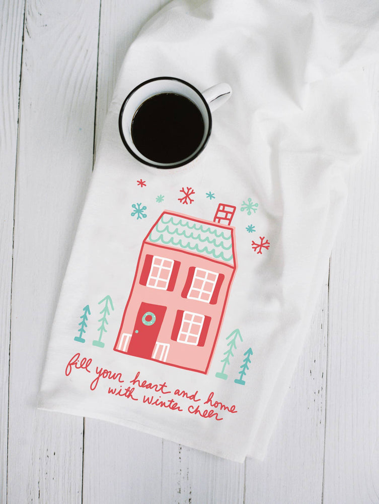 Fill Your Hearts & Home with Winter Cheer Flour Sack Towel