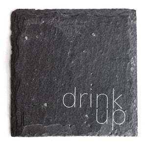 Cheers Ink - Drink Up Slate Coaster