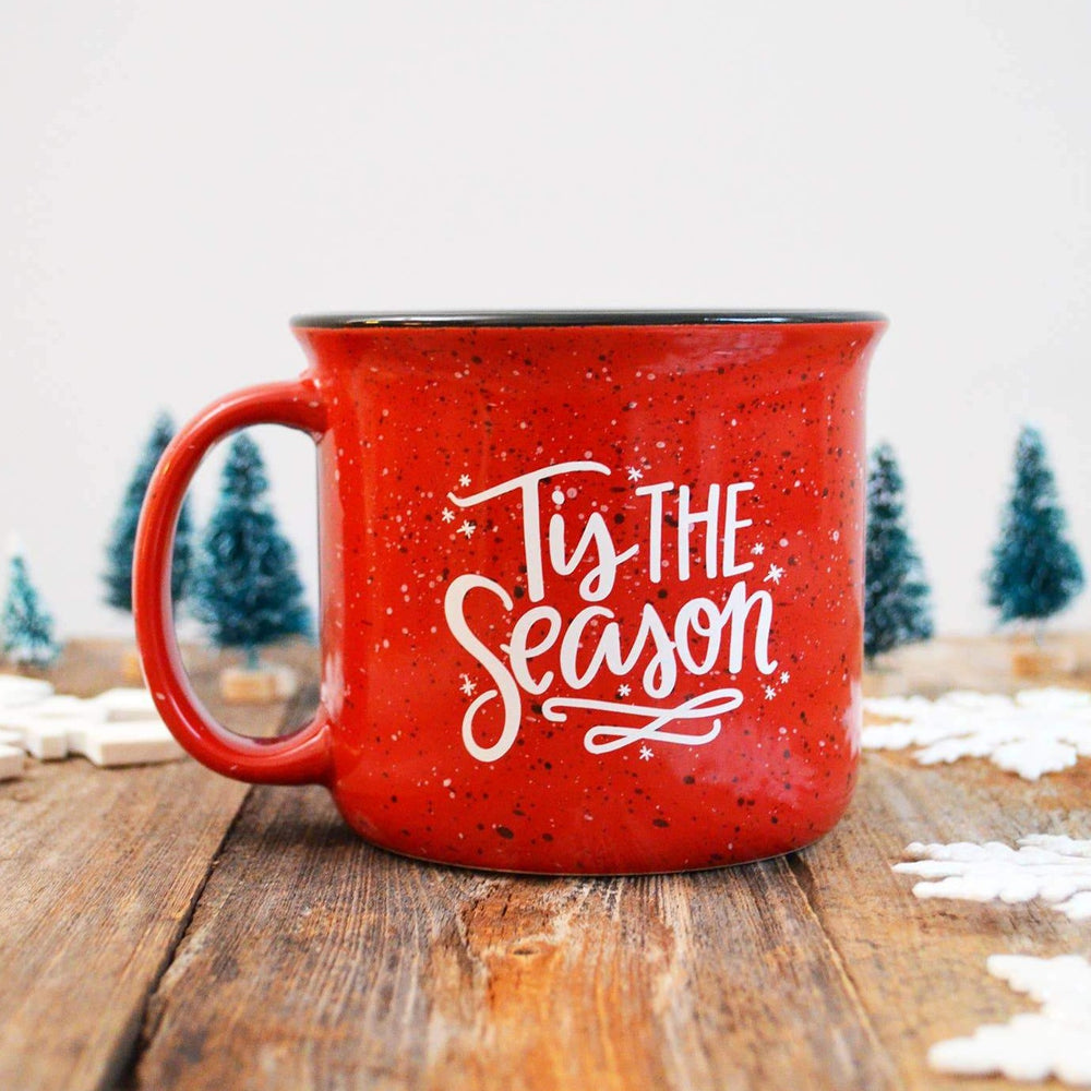 Pen & Paint - Christmas Holiday Mug, Tis the Season, Red Campfire Mug