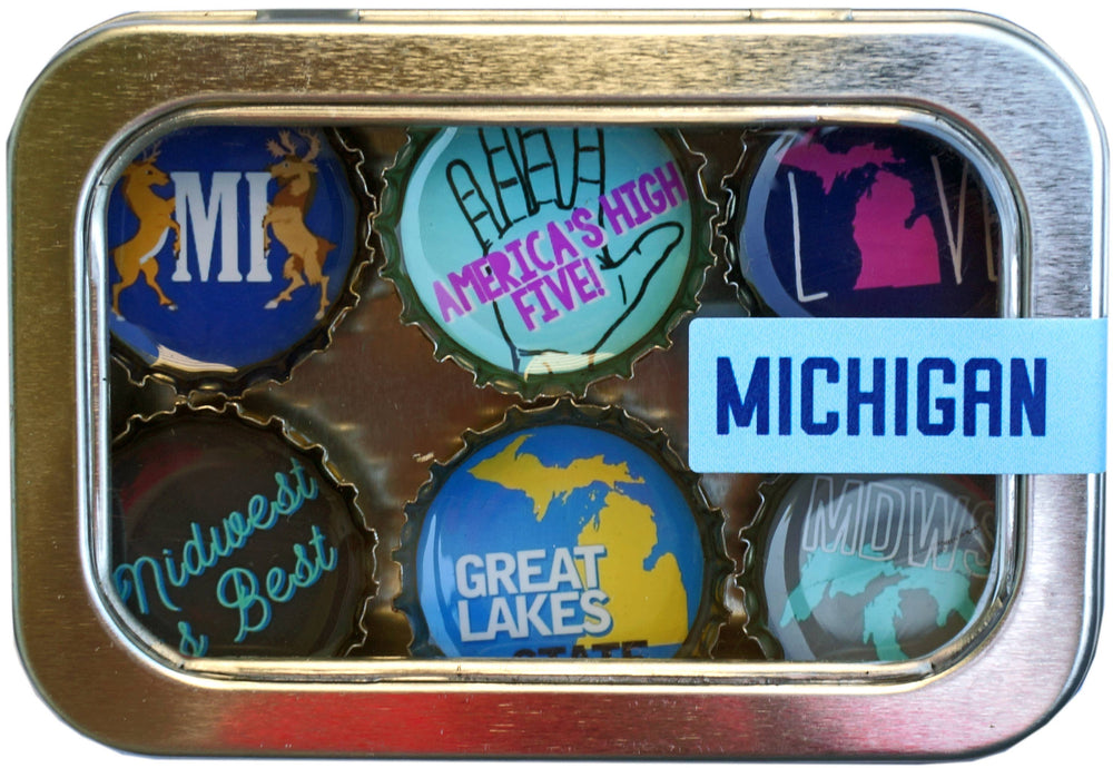 Kate's Magnets - Michigan Magnet - Six Pack