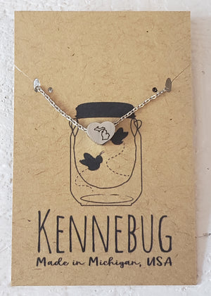 Kennebug - Small Heart MI Necklace - B0135720-MI