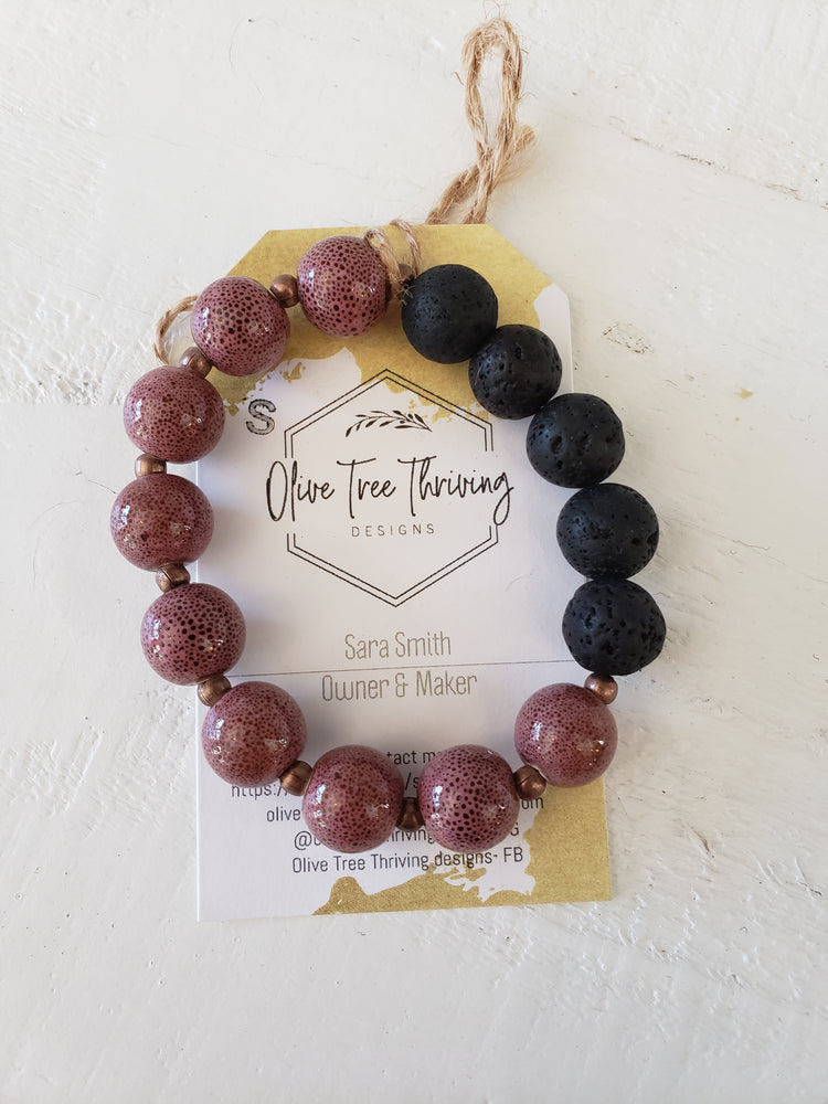 Olive Tree Thriving - Lava Bracelets (Size Small)