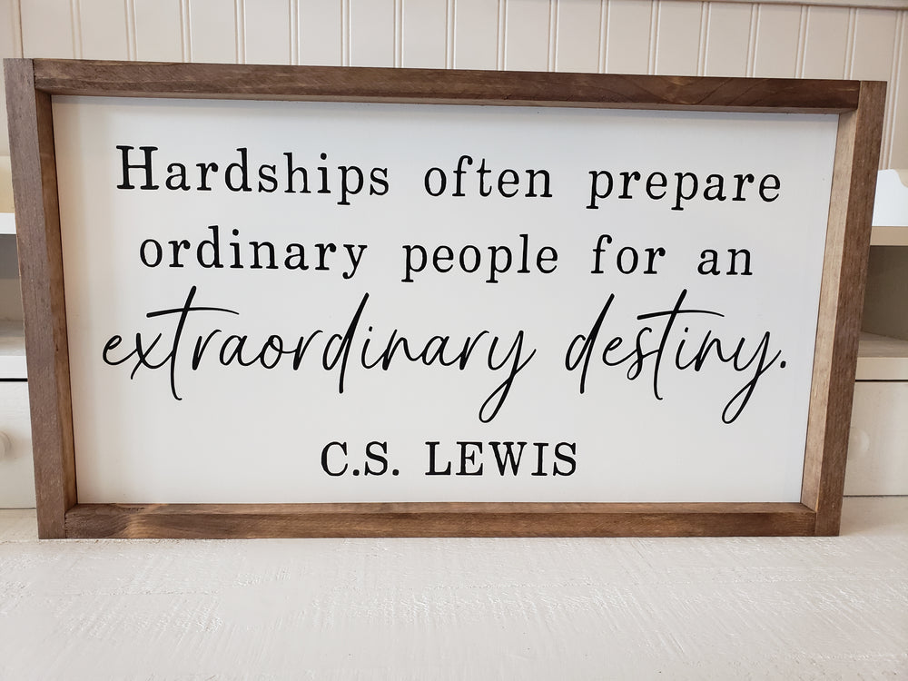 C.S. Lewis Framed Sign