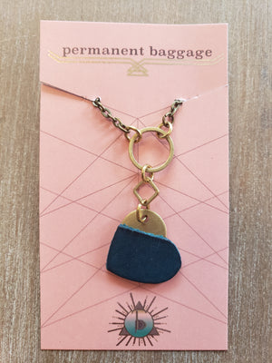 "Permanent Baggage - 18"" Heart Necklace"