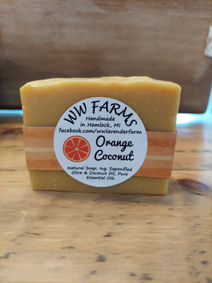 Goat Milk Soap- Orange Coconut