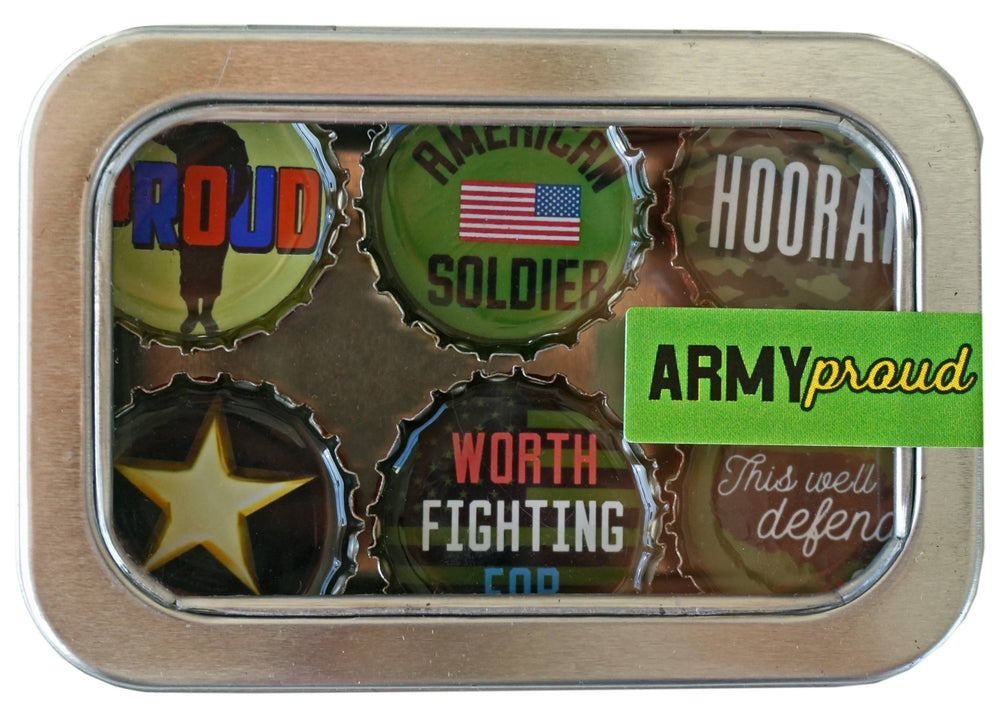 Kate Grenier Designs - Army Proud Magnet - Six Pack