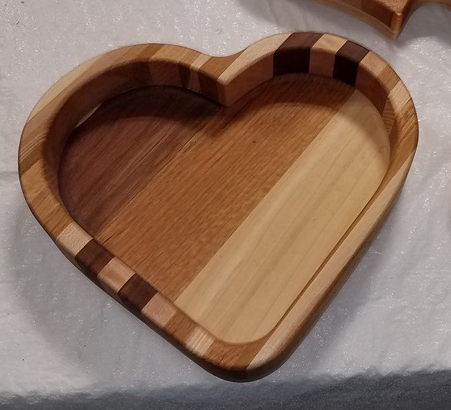 Fosters Wooden Creations - Single Heart Tray
