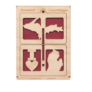 G3 Studios - 3D Ornament Card - I Love Michigan