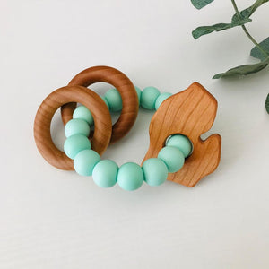 Michigan Teething Ring Rattle