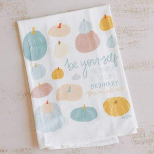 Doe A Deer - Be Yourself Pumpkin Flour Sack Towel