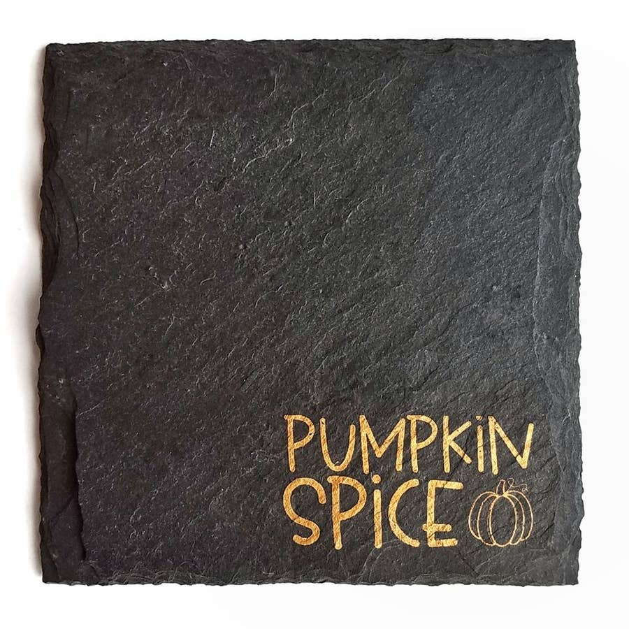 Cheers Ink - Pumpkin Spice Slate Coaster