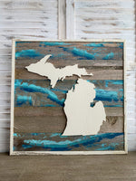 Michigan Barnwood Signs 24 x 24 (Multiple Options)
