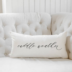 PCB Home - Cuddle Weather Script Lumbar Pillow
