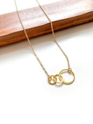 Triple Circle Link Necklace