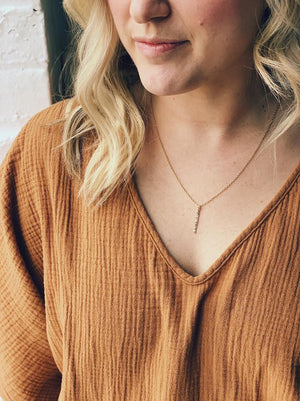 Hammered Vertical Necklace