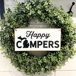 Happy Campers Hanging Sign
