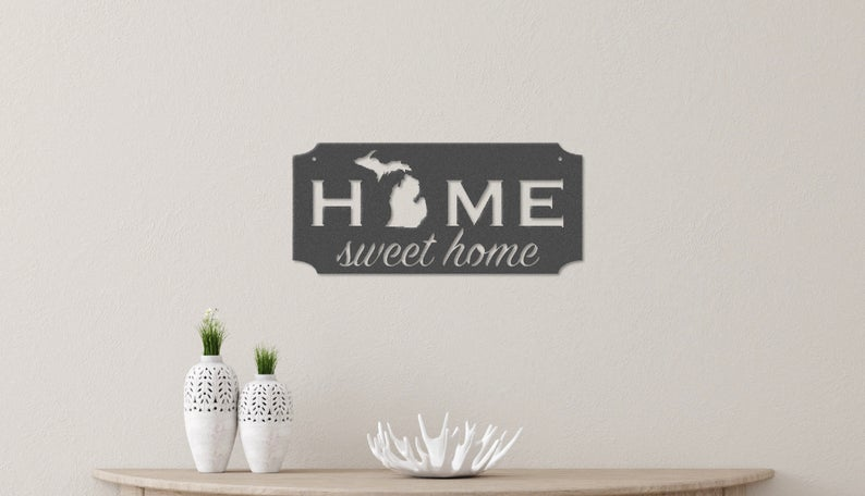 Michigan Imagery - Home Sweet Home (Grey)